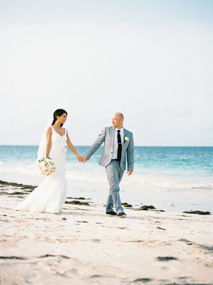 bride and groom on the beach in Punta Cana