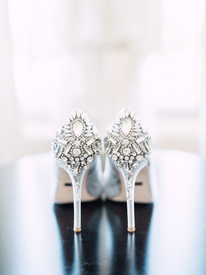 bling on your wedding shoes