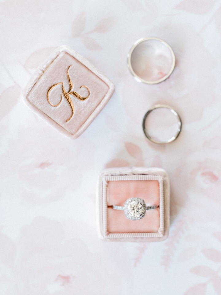 soft pink ring box