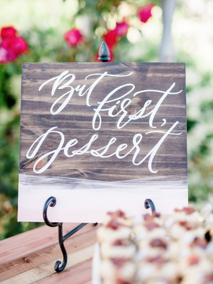 but first dessert wedding sign