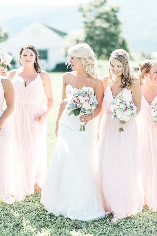 Blush and green wedding