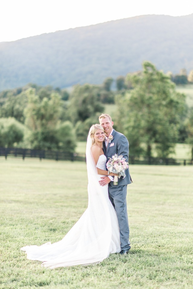 Natural white, pink and green wedding