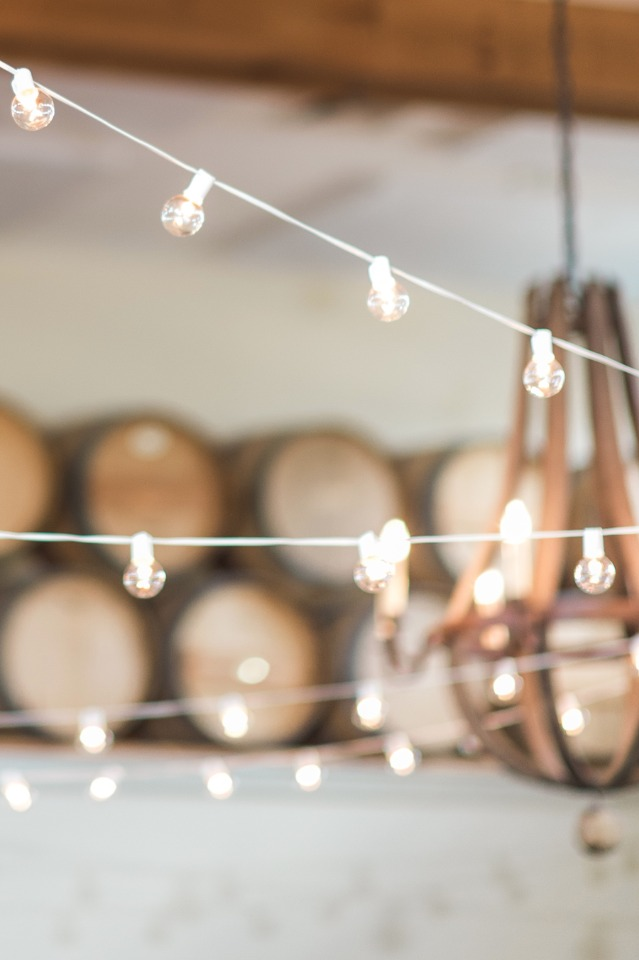 Light up your reception with bistro lights