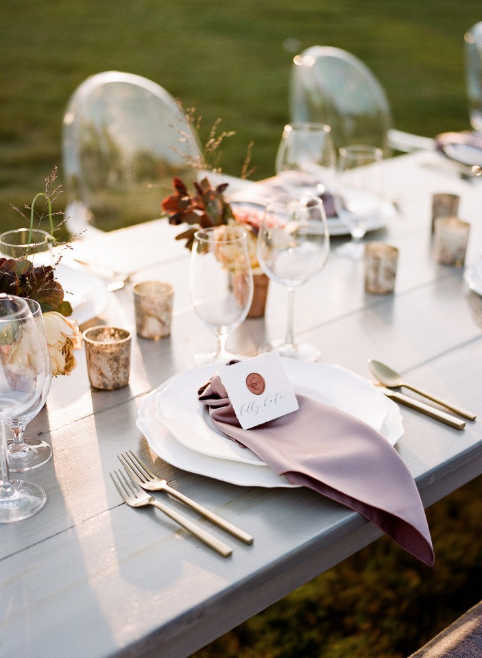 wedding table setting idea