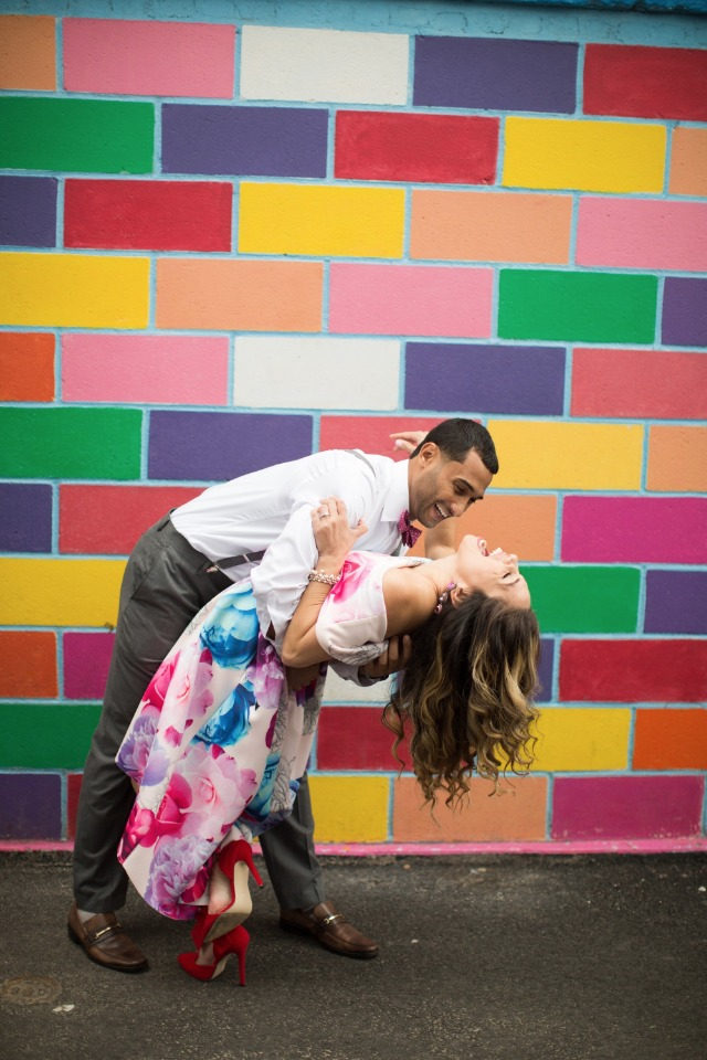 Colorful and fun Coney Island engagement shoot