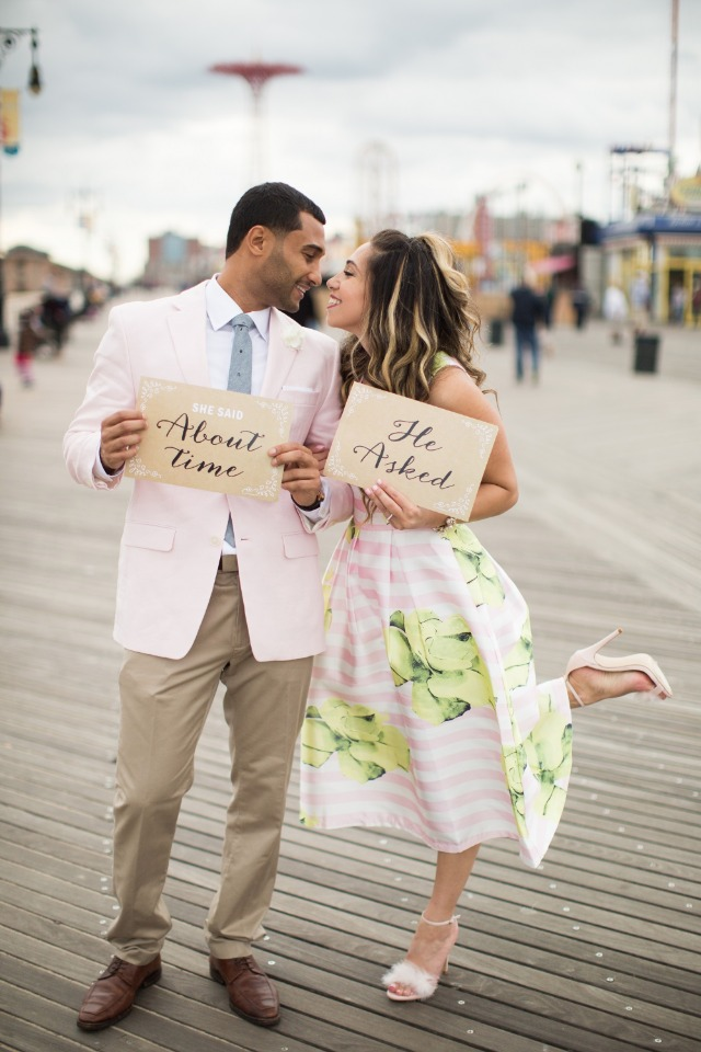 Engagement shoot at Coney Island