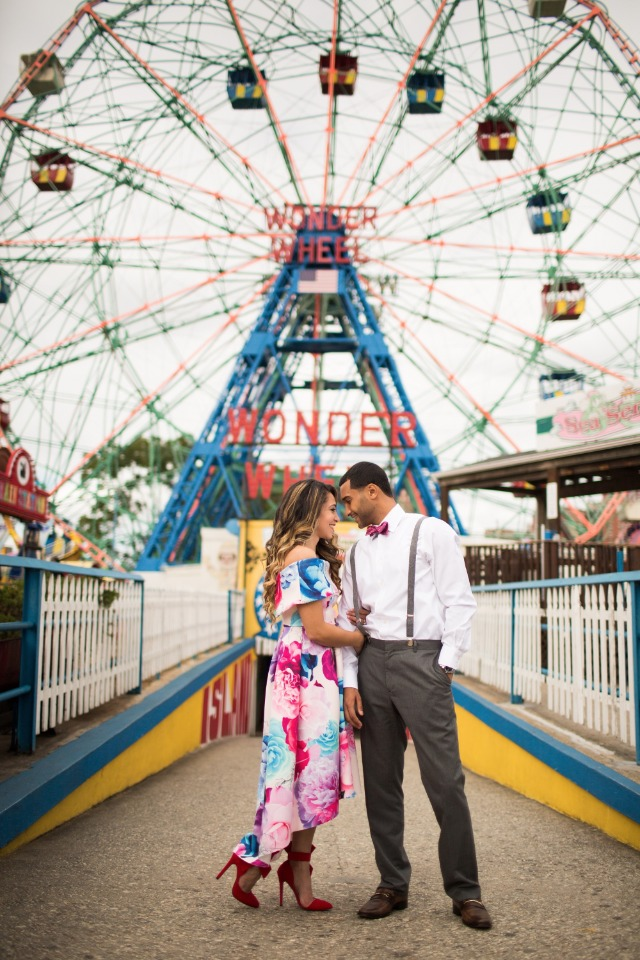 Engagement session at Coney Island