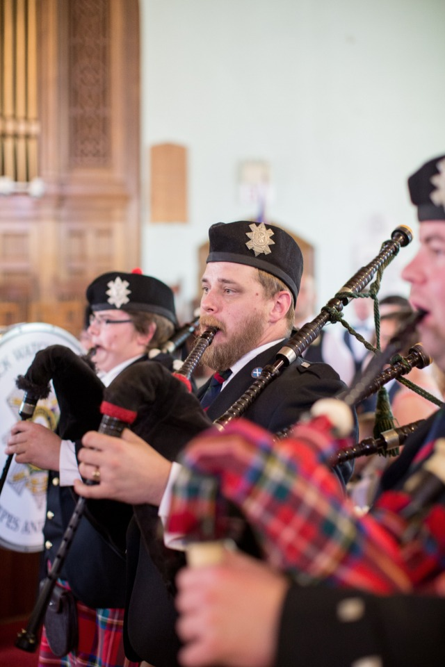 wedding ceremony bag pipes traditions