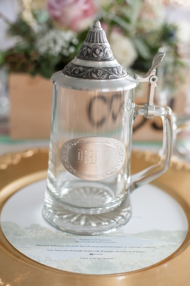 glass beer steins for the guests