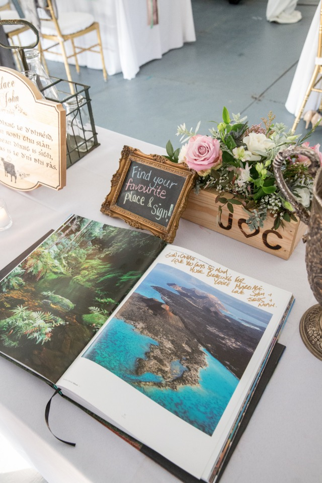 coffee table book guest book