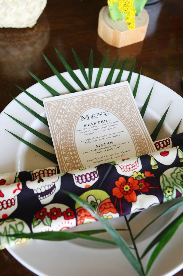 Mexican inspired wedding table setting