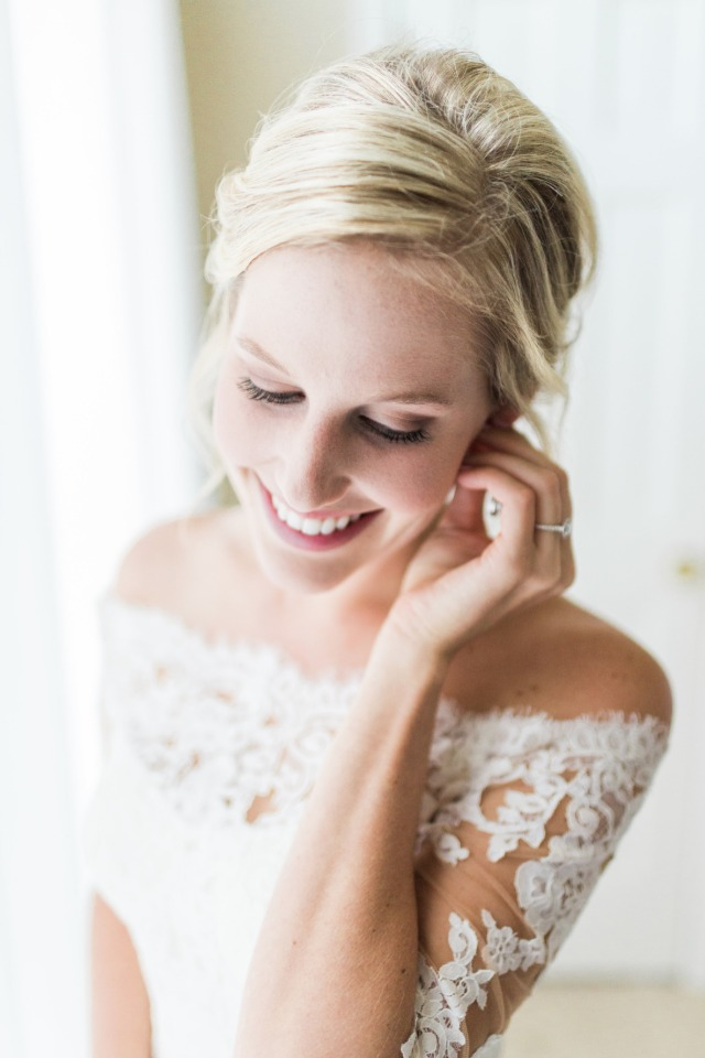 sweet candid photo of the bride