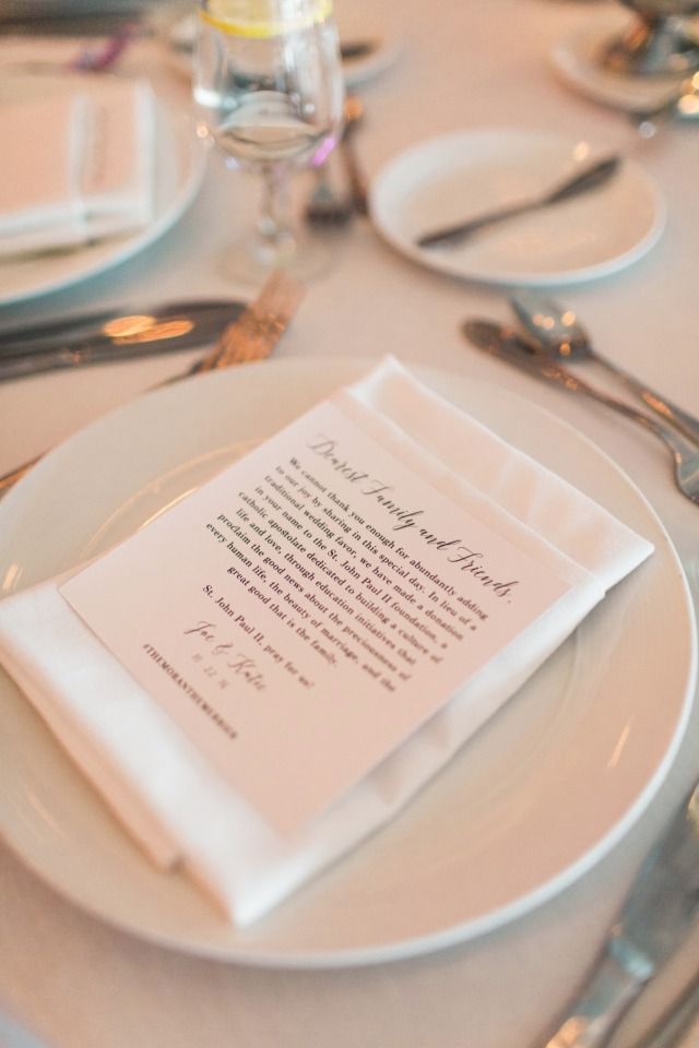 thank you note from the bride and groom