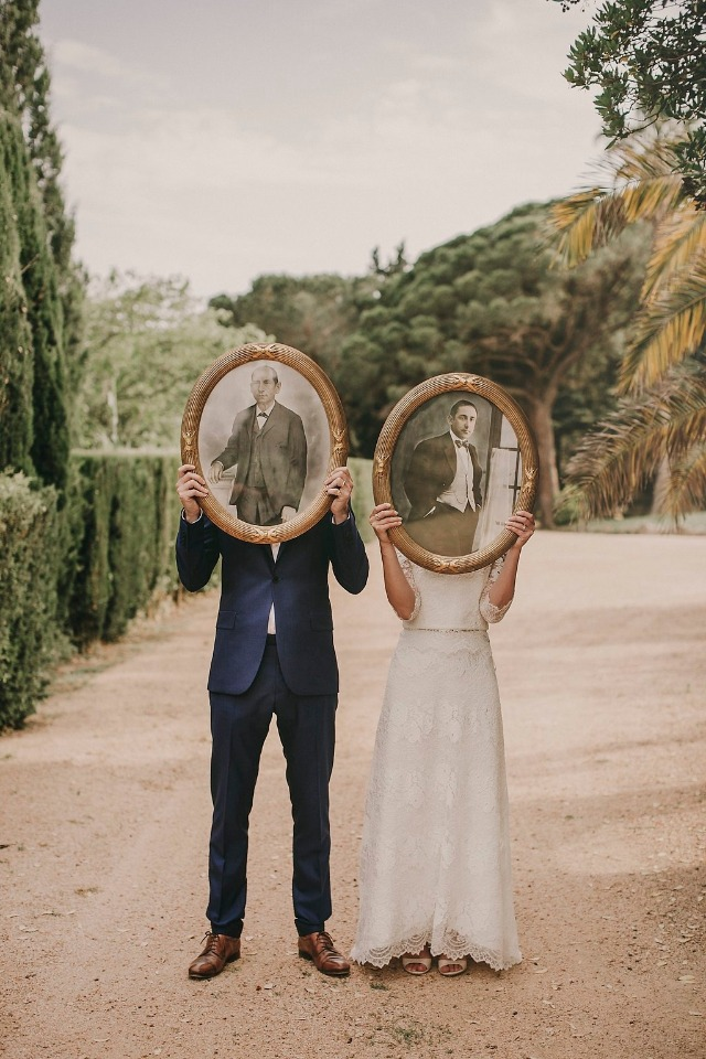 Fun wedding portrait idea
