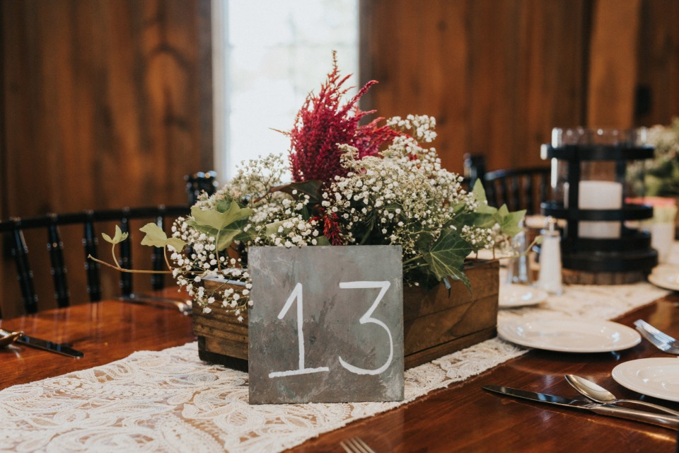 slate and chalk reception table numbers