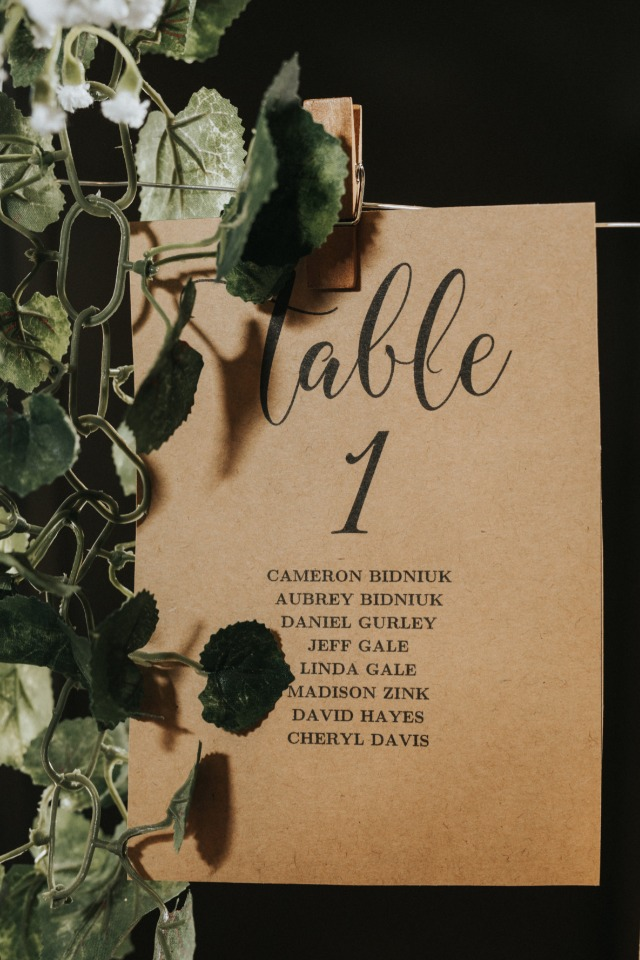 find your seat at table 1