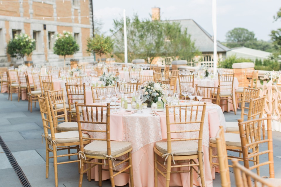 Blush outdoor reception