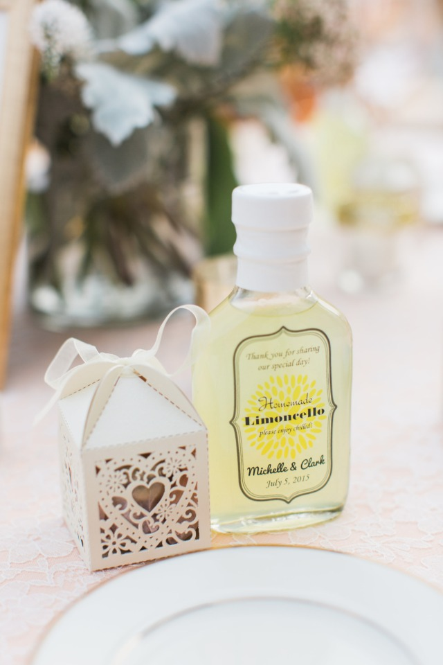 Custom Limoncello wedding favor