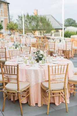 Holy Pretty! Must-See Outdoor Blush and Gold Estate Wedding
