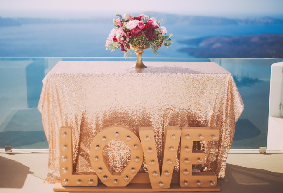 love marquee sign for a wedding