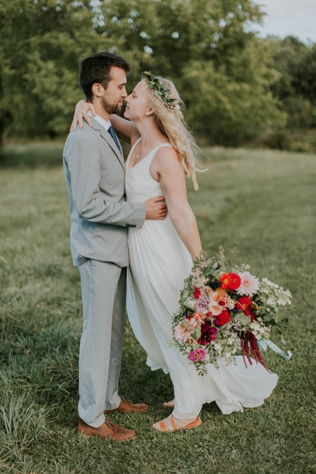 So much to love at this organic farm wedding