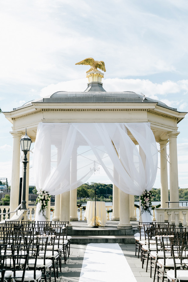 giant gazebo wedding ceremony venue