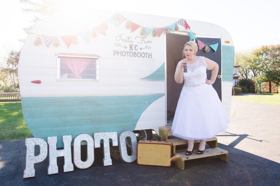 Vintage camper photobooth