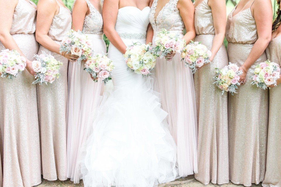 champagne bridal party style