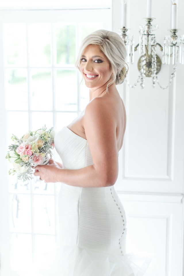 curve hugging wedding dress