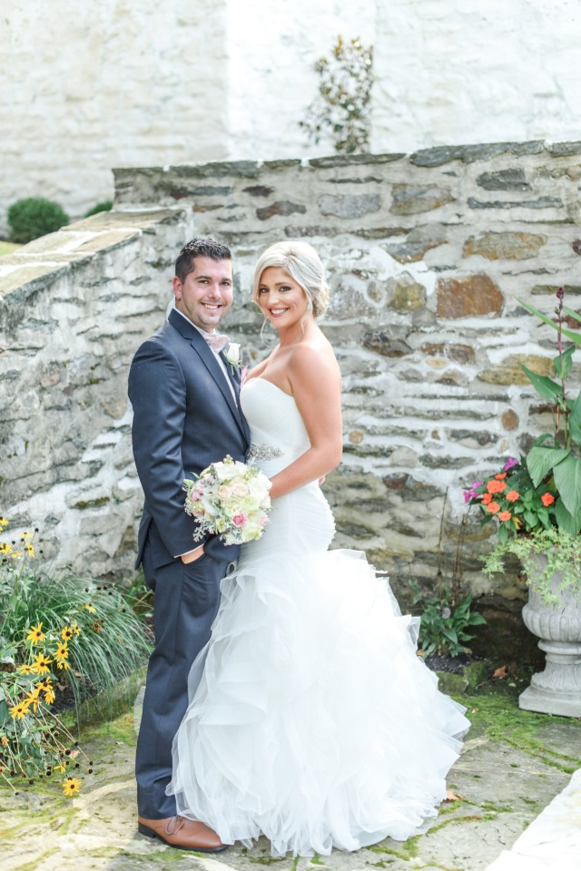 bride and groom glam style