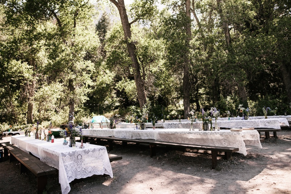 Rustic family style reception