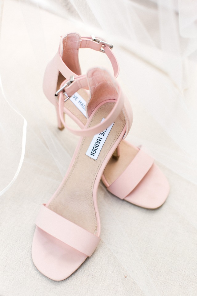 pink steve madden wedding shoes
