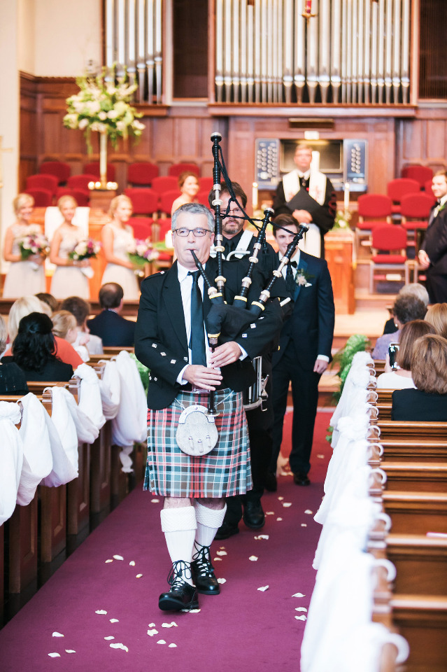 bagpipe wedding ceremony recessional