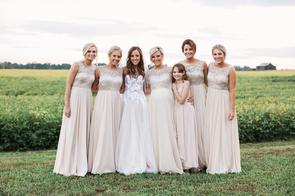 pink bridal party attire
