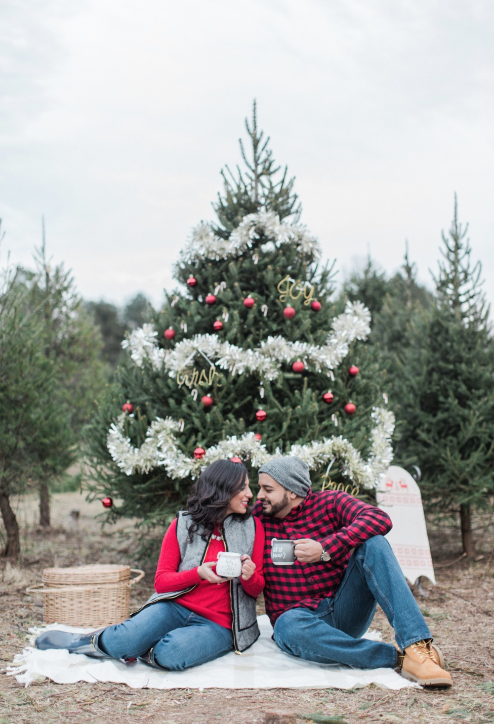 Gallery This Tree Farm Engagement Shoot Will Have You Wishing For Xmas Again