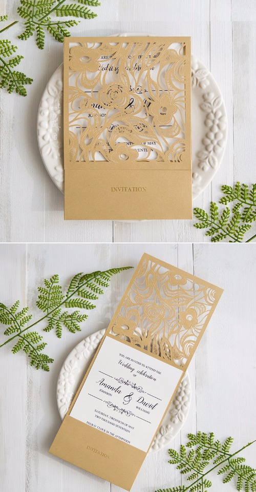 laser cut wedding invites from Stylish Wedd