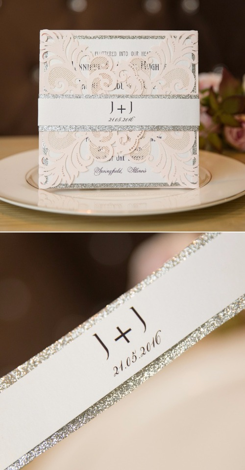 sparkly wedding invite form Stylish Wedd