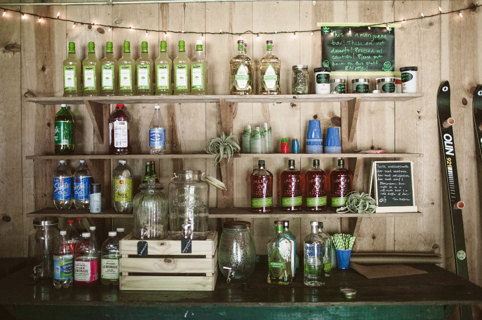 Make your own booze bar
