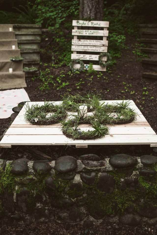 Natural greenery decor