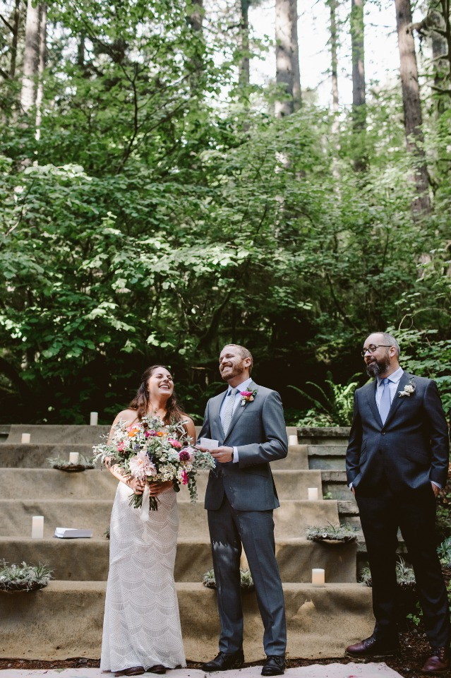 Rustic weekend wedding in the mountains
