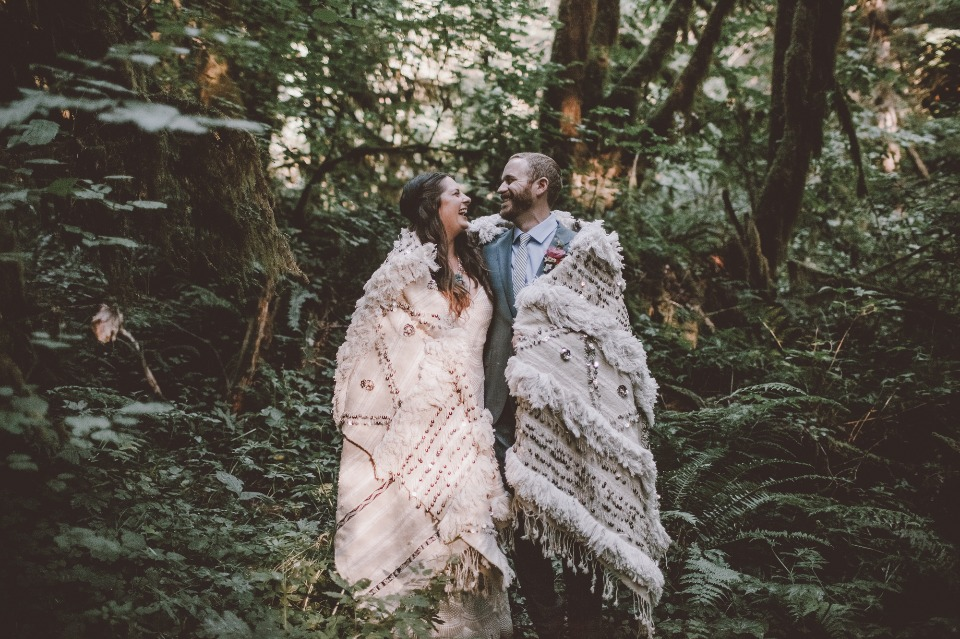 Camping themed wedding