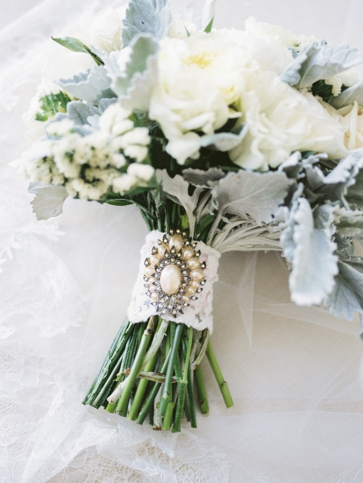 bouquet wrap and broach