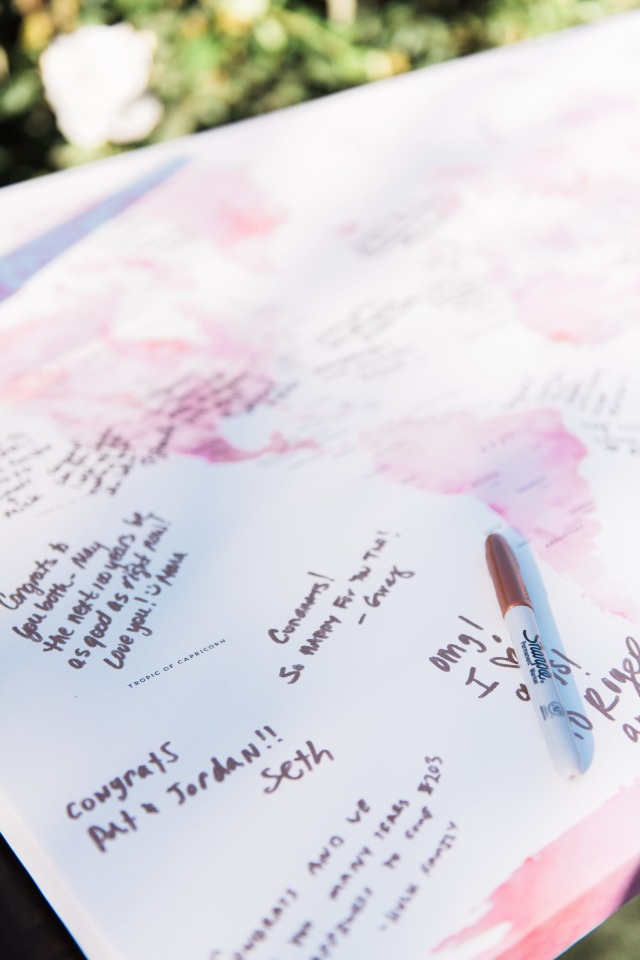 please sign our world map