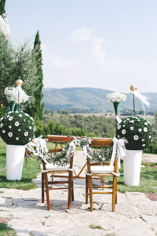 Gorgeous outdoor Italian wedding