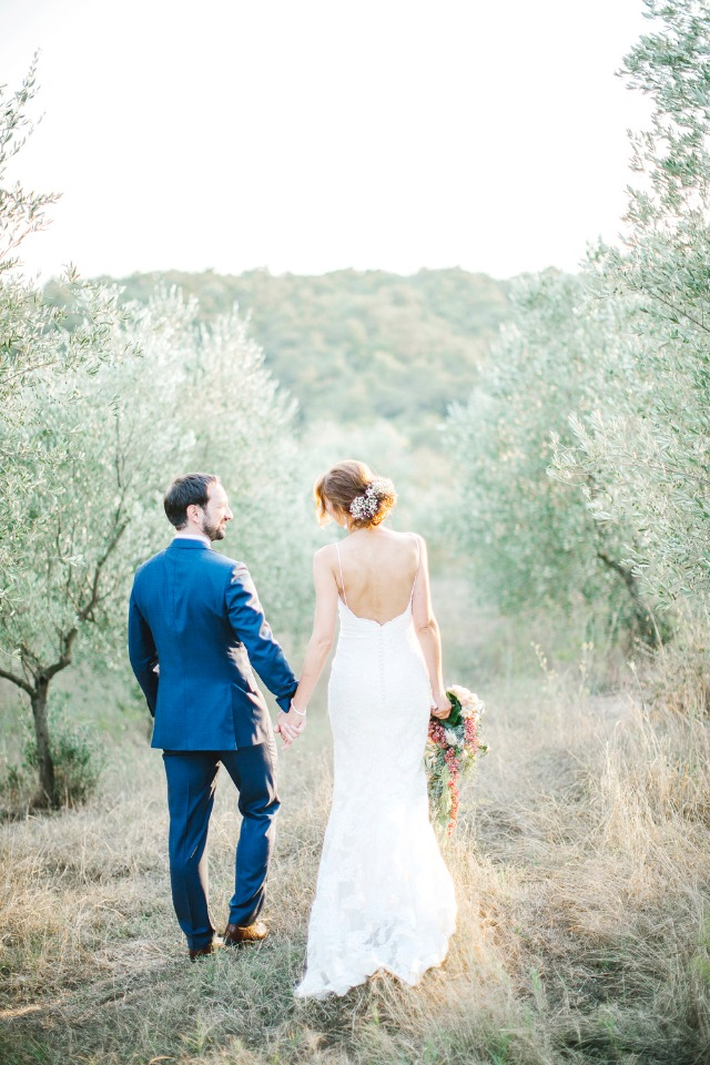 Gorgeous outdoor wedding in Italy