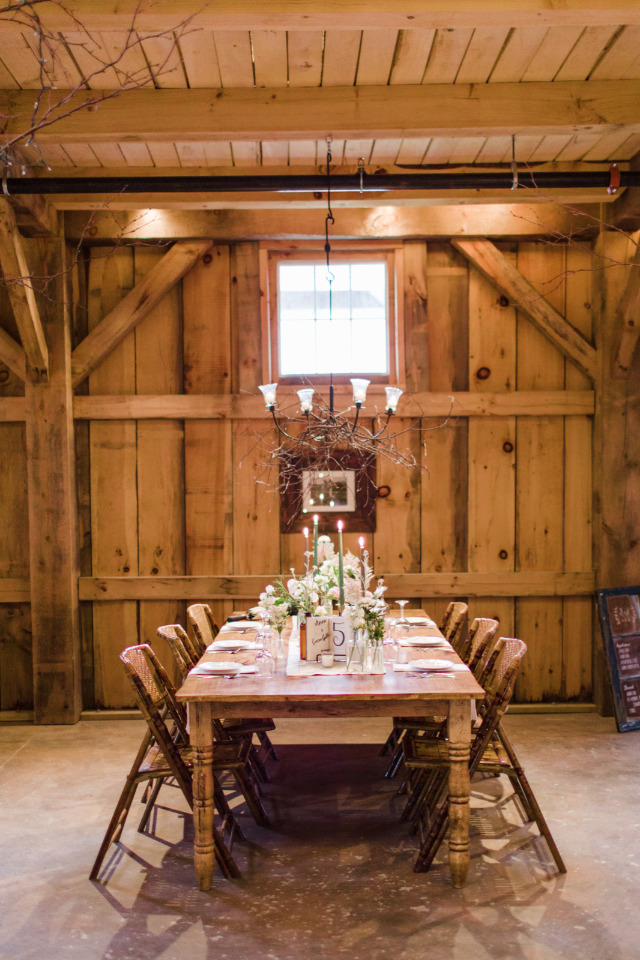 beautiful rustic barn wedding reception
