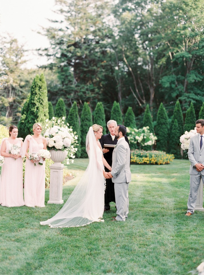 Elegant outdoor ceremony in Newport