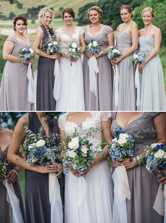 mis matched grey bridesmaid dresses