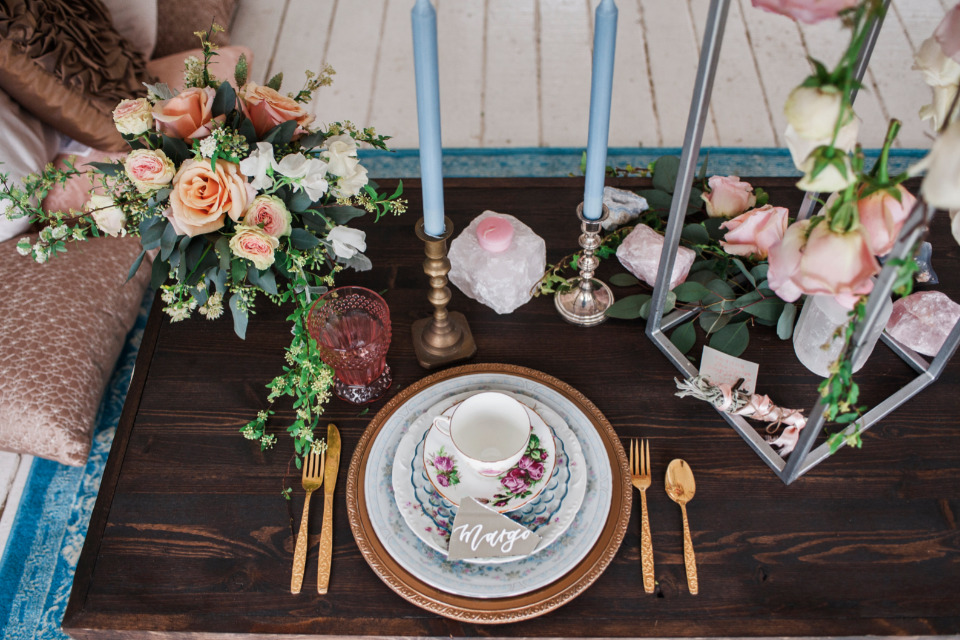 bohemian wedding table ideas