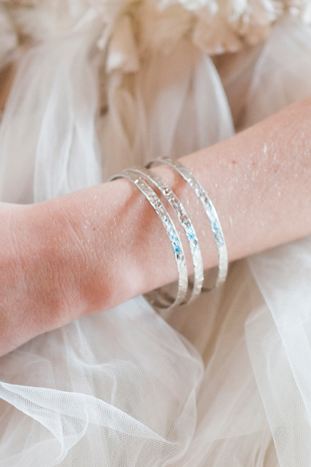 pretty bangle bracelets for the bride